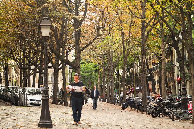 The pretty streets of Paris